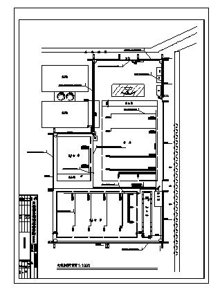 某单层钢结构库房电气施工cad图(含消防设计)-图一