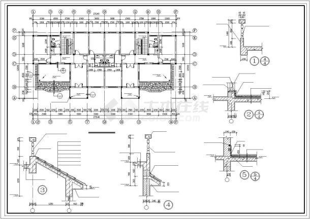 银川市某现代村镇700平米3层砖混结构民居住宅楼建筑设计CAD图纸-图一