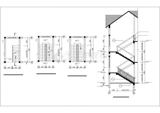 银川市某现代村镇700平米3层砖混结构民居住宅楼建筑设计CAD图纸-图二
