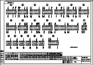 某锅炉操作台电气施工cad图(原理及接线图)-图二