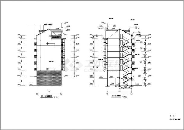 保定市孔祥花园小区5860平米6层框架结构住宅楼建筑设计CAD图纸-图一