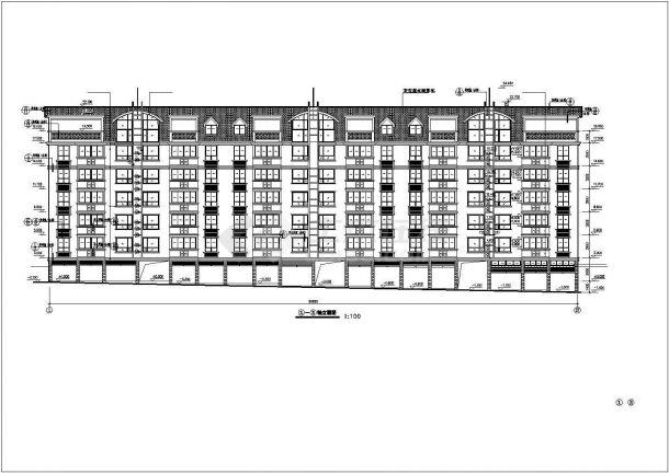 保定市孔祥花园小区5860平米6层框架结构住宅楼建筑设计CAD图纸-图二