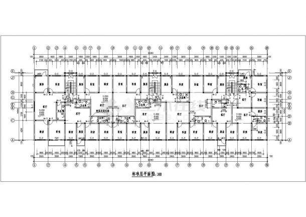 苏州苏园新村小区6层砖混结构民宅楼全套平面设计CAD图纸(含阁楼)-图二