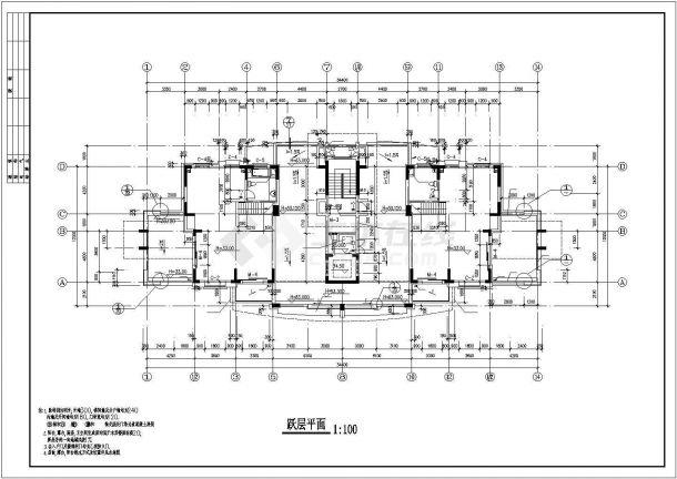 沈阳市云锦城小区12层框架结构住宅楼建筑设计CAD图纸(含地下室)-图一