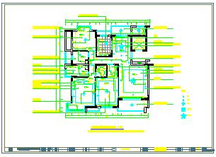别墅家装cad装修设计平面施工图纸-图一