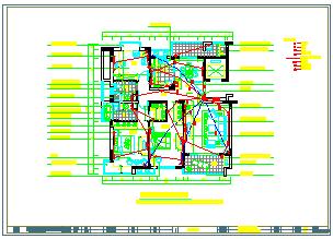 别墅家装cad装修设计平面施工图纸-图二