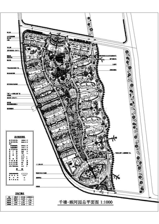 南昌某地千禧颐和园景观设计规划cad图纸,共一份图纸-图一