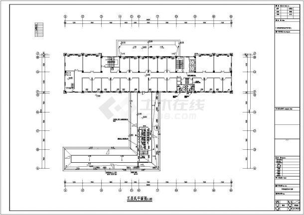 某城市行政大楼采暖空调项目设计施工CAD图纸-图一