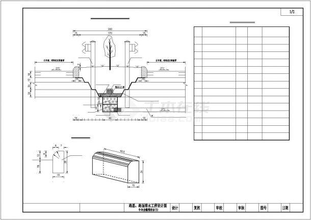 某高速公路路基路面排水项目设计施工CAD图纸-图一