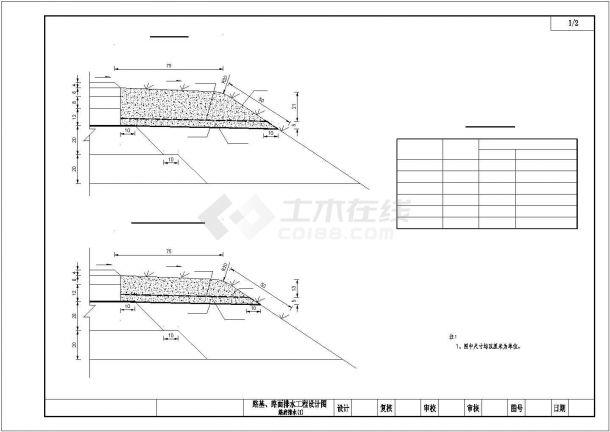 某高速公路路基路面排水项目设计施工CAD图纸-图二