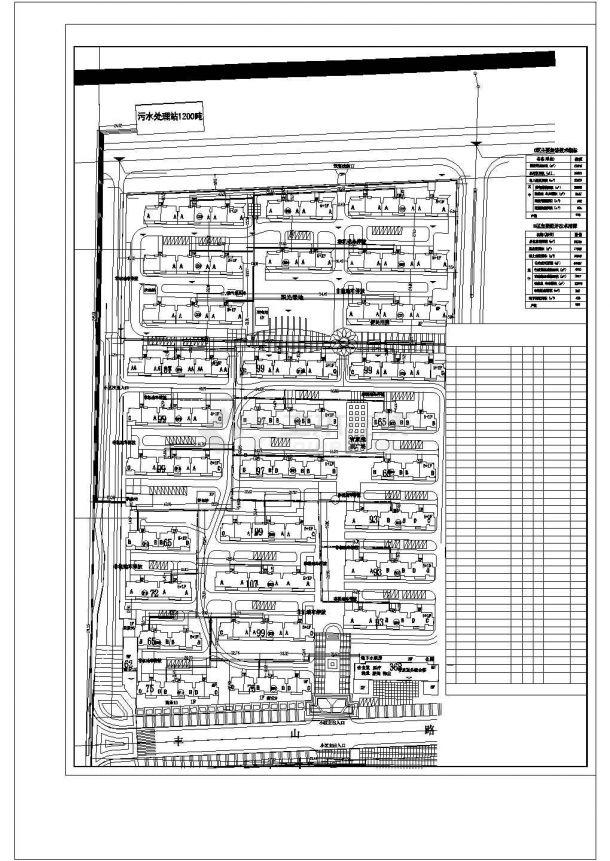 某城郊热能中心二级网项目设计施工CAD图纸-图二