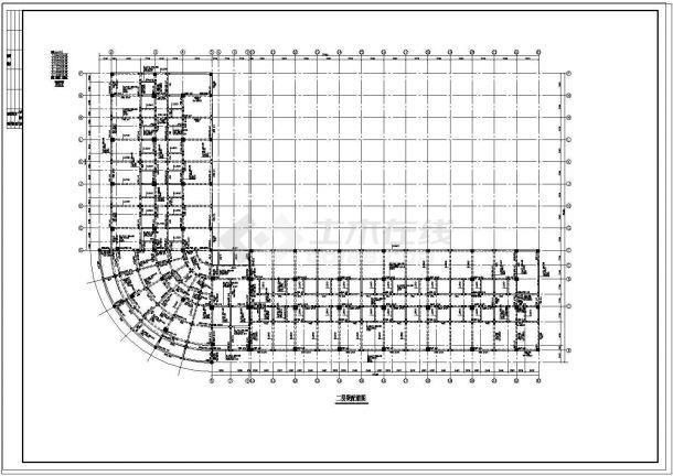 某住宅楼全套框架结构设计图纸-图二