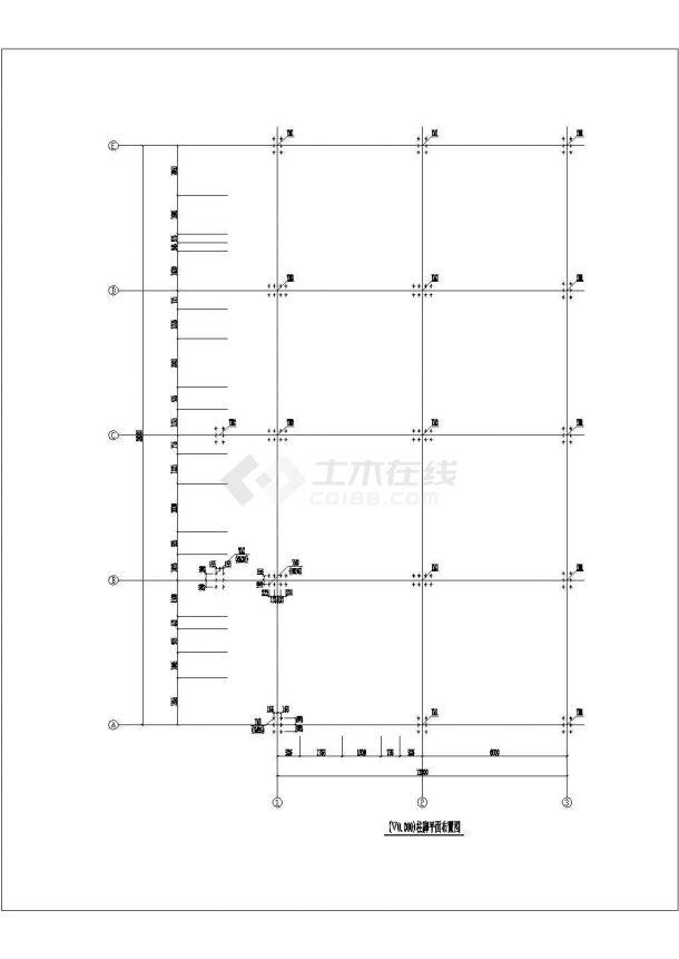 四层钢框架结构设计CAD施工图-图一