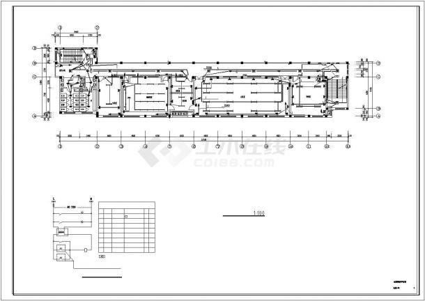 某3322平方米五层浙江中学教学楼电气施工cad图纸-图一