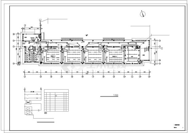 某3322平方米五层浙江中学教学楼电气施工cad图纸-图二