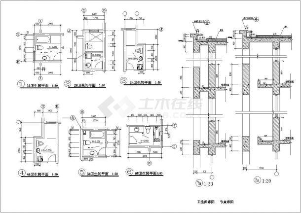 湘潭市城珺花苑小区5层砖混住宅楼建筑设计CAD图纸(含架空层和阁楼)-图一
