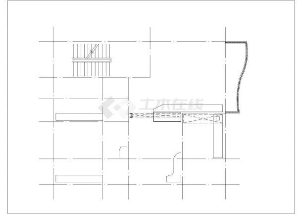 太原市张全村某4层砖混结构单体别墅建筑设计CAD图纸(含天面层)-图一