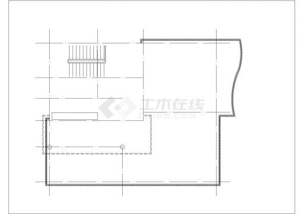 太原市张全村某4层砖混结构单体别墅建筑设计CAD图纸(含天面层)-图二