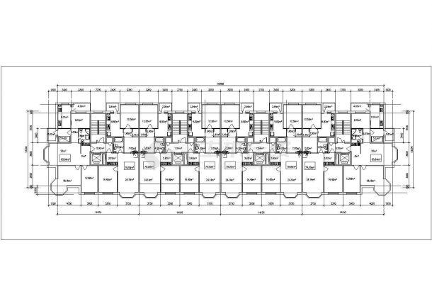 苏州市吕阳花园小区住宅楼的标准层平面设计CAD图纸(4张)-图一