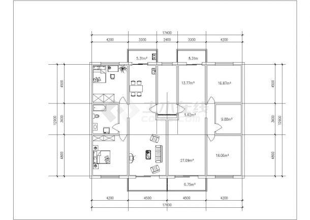 德州市清沁园小区经典热门平面户型设计CAD图纸(共14张)-图二