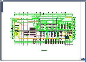 洁净厂房空调系统cad平面布置设计图-图一