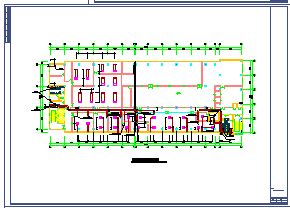 洁净厂房空调系统cad平面布置设计图-图二