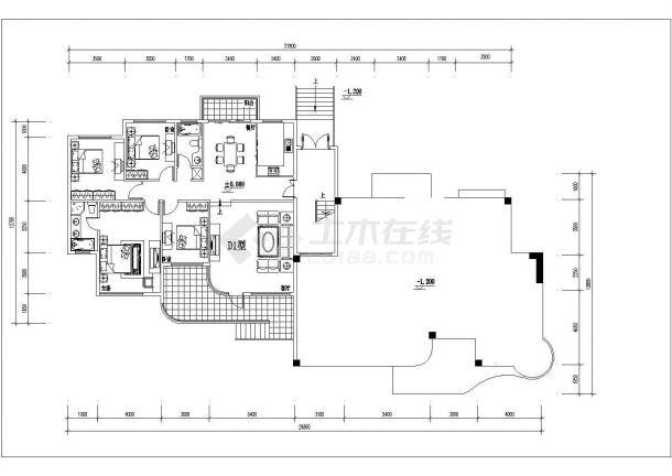 荆州市海悦花园小区经典热门的平面户型设计CAD图纸(共14张)-图二