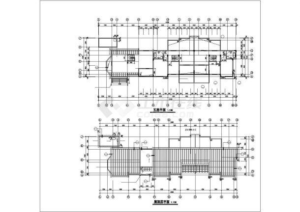 南京市中诚花园小区5层框架结构住宅楼全套建筑设计CAD图纸-图一