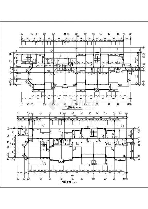 南京市中诚花园小区5层框架结构住宅楼全套建筑设计CAD图纸-图二