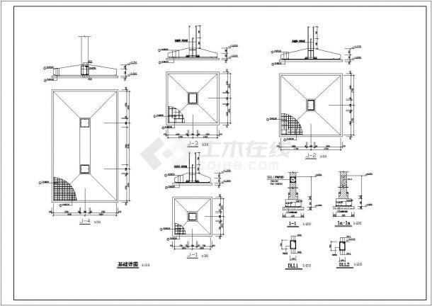 土木工程毕业设计_[学士]四层框架教学楼毕业设计图纸(含计算书建筑、结构图)-图二
