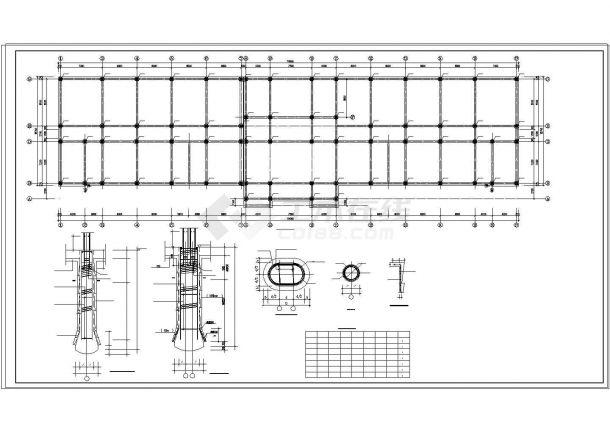 某学校教学楼框架结构设计CAD施工图纸-图一