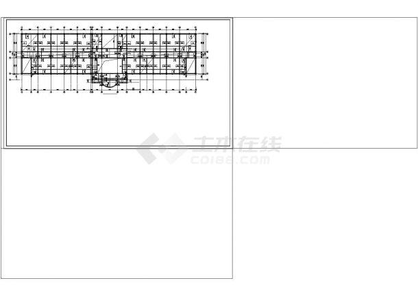某学校教学楼框架结构设计CAD施工图纸-图二