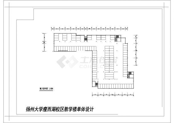 西街某学校二层教学楼建筑师合计cad图纸,含效果图-图一