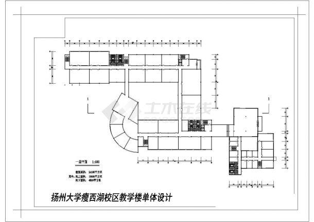 西街某学校二层教学楼建筑师合计cad图纸,含效果图-图二