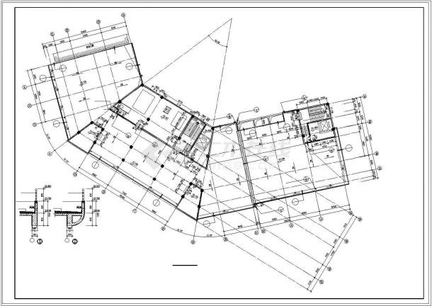 旅馆建筑设计平面图_某酒店旅馆建筑设计施工cad图纸 - 资料下载 - 土木在线