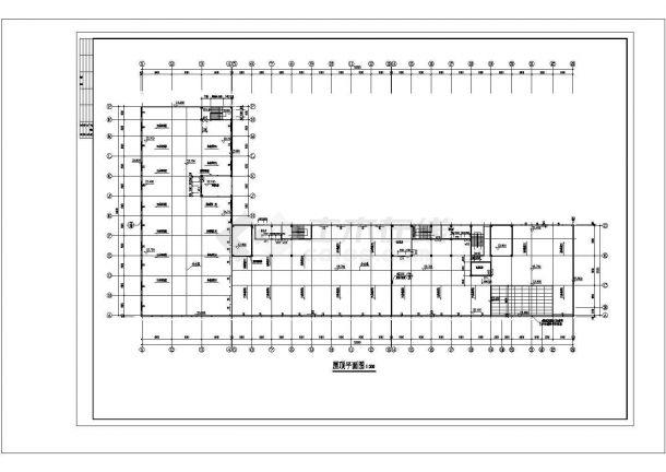 5层L型有限公司生产大楼建筑施工图cad-图一