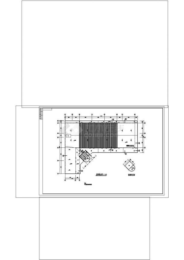 6层6970平米L形框架结构教学楼建筑施工CAD图纸设计-图一