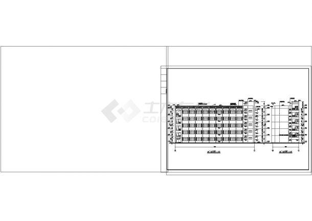 5层2516.96平米框架结构大学教学楼建筑施工CAD图纸设计-图一