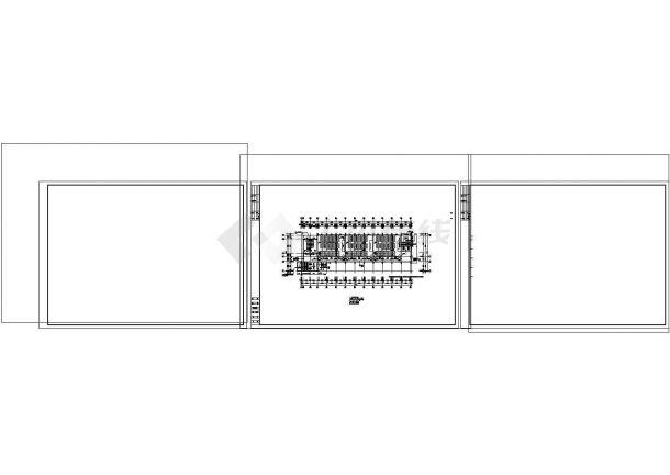 5层2516.96平米框架结构大学教学楼建筑施工CAD图纸设计-图二