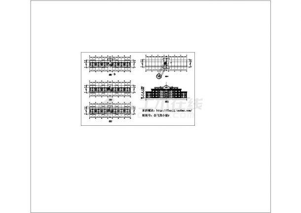 3层1081.6平米公寓式酒店建筑设计图-图一