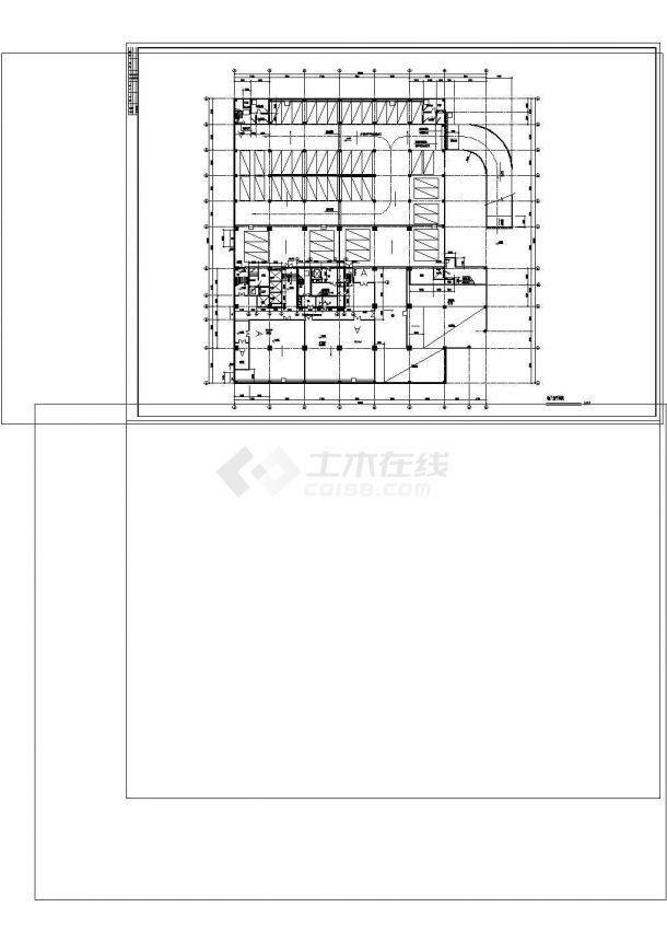 -1+18层商务酒店建筑施工cad图纸设计-图一