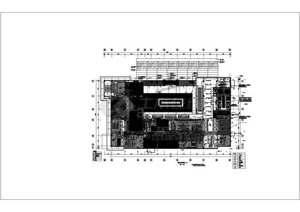 装修图-3097平米中餐厅装修平面图【各平面图6张】.cad-图一