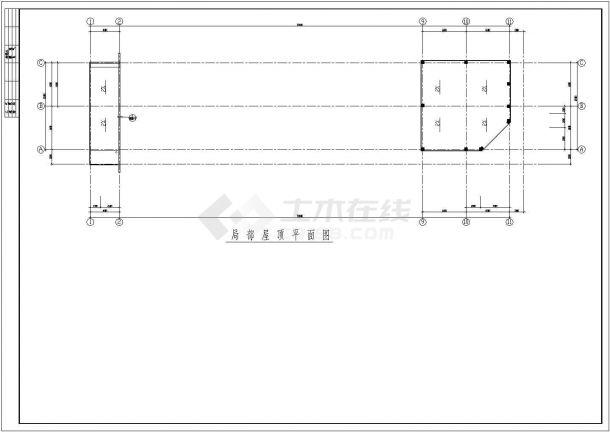 办公楼设计_【3层】2677.9平 连云港渔业公司办公楼施工组织设计图纸(含建筑结构图,横道图,施工平面布置图)-图一
