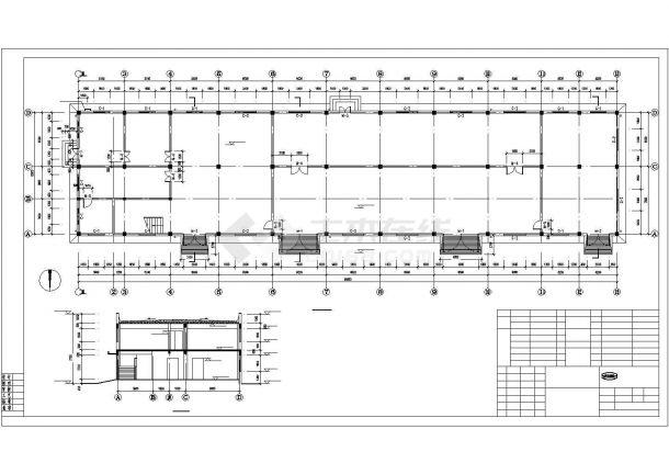 某地区二层水处理间钢筋混凝土框架结构设计施工CAD图纸-图一