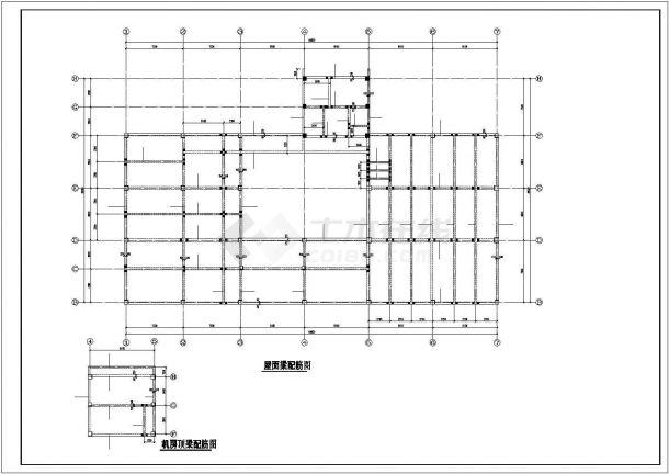 某地区五层教工活动中心钢筋混凝土框架结构设计施工CAD图纸-图一