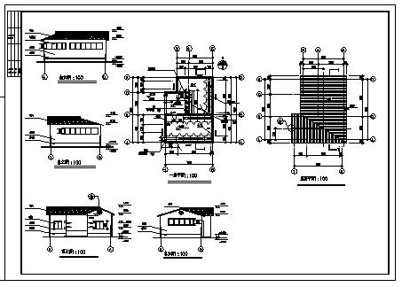 70平单层公共厕所建筑设计cad图,共八张-图一