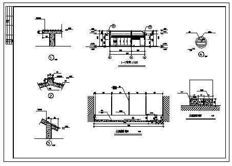 70平单层公共厕所建筑设计cad图,共八张-图二