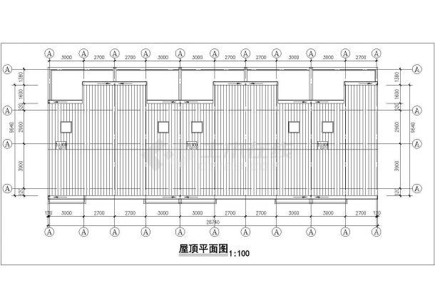 苏州市巴蜀家园小区三层砖混结构单体住宅楼建筑设计CAD图纸-图二