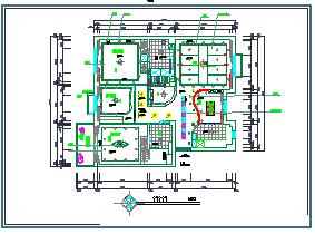 某豪华住宅室内装修全套施工cad平面图-图二