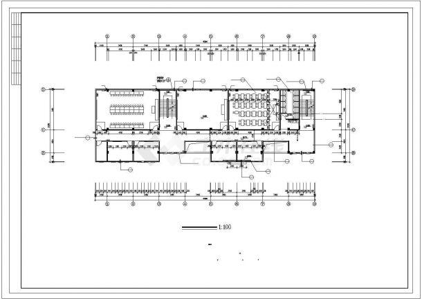 某五层小学多功能教学楼建筑施工cad图,共十一张-图一
